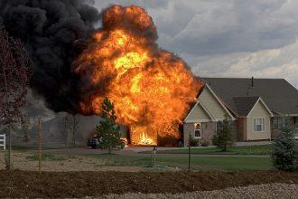 Incendios en california a vista de drone