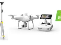 drone DJI Phantom 4 RTK con PIX4D mapper
