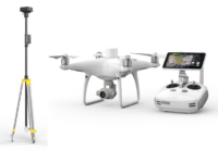 drone DJI Phantom 4 RTK con estacion D RTK2