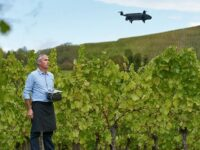 drone parrot bluegrass fields trabajando